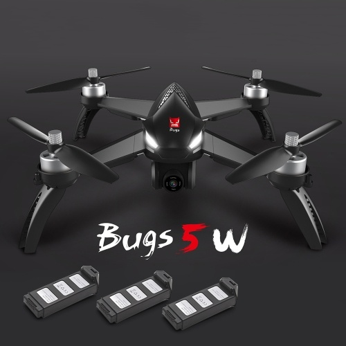 MJX Bugs 5W 1080P 5G Wifi FPV Camera GPS Positioning Altitude Hold RC Drone Quadcopter with 3 Batteries