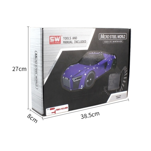 SW(RC)-002 518Pcs DIY Building Blocks Car 1/16 2.4G Stainless Steel Construction RC Car Image