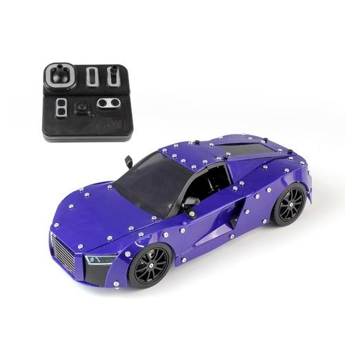 Sw (rc) -002 518 pcs diy blocos de construção do carro 1/16 2.4g de aço inoxidável construção rc carro