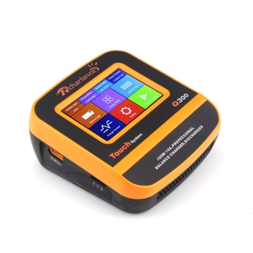 Rcharlance Q300 300W 10A 2-6S DC11V-28V Balance Charger Touch Screen for LiPo LiFe LiHv NiMH NiCd Pb Battery
