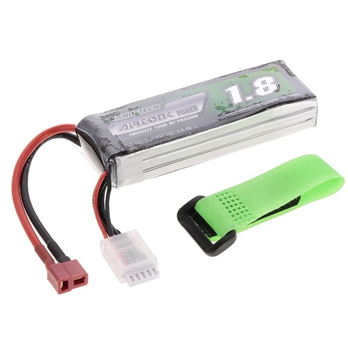 11.1V 1800mAh 30C 3S Rechargeable Li-Po Battery with T Plug for RC Racing Drone Quadcopter Helicopter Airplane Car Truck
