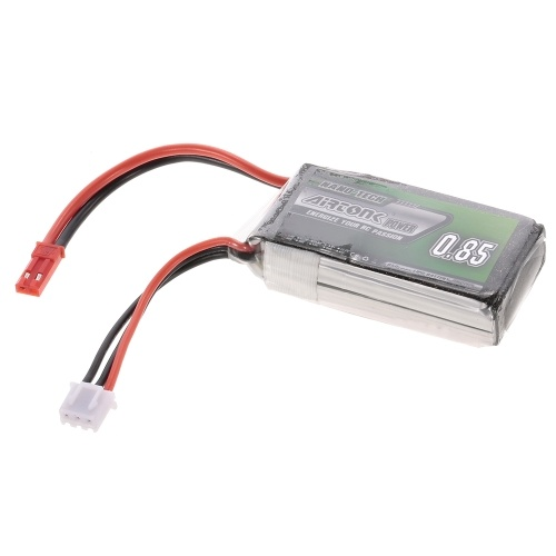 7.4V 850mAh 30C 2S Rechargeable Li-Po Battery with JST Plug for RC Drone Airplane Car Truck