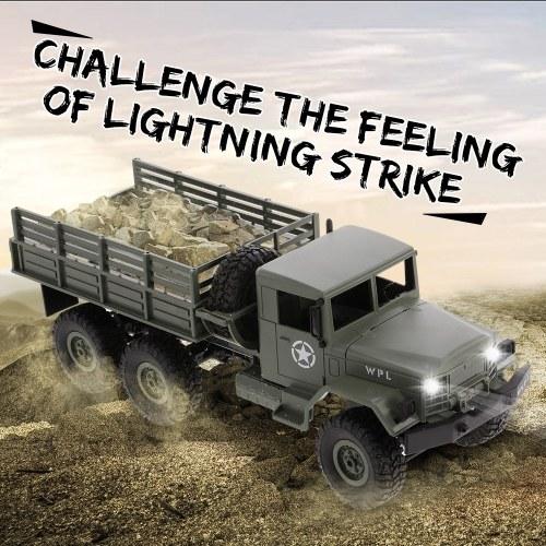 WPL B-16K 1/16 6WD Camion Militaire RC Hors-Route Crawler avec Moteur Léger et Servo KIT DIY Enfants Jouet