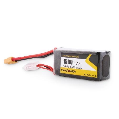 14.8V 1500mAh 65C 4S Li-Po Battery