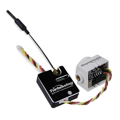 Turbowing CYCLOPS TWC25 700TVL 120° NTSC/PAL Micro FPV Camera and 25/200mW Transmitter Module Set