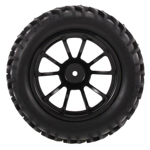 4PCS 1/10 Neumático para todo terreno Patrón de banda de rodadura en V de 10 radios para 1/10 HSP HPI Redcat RC4WD RC Monster Truck