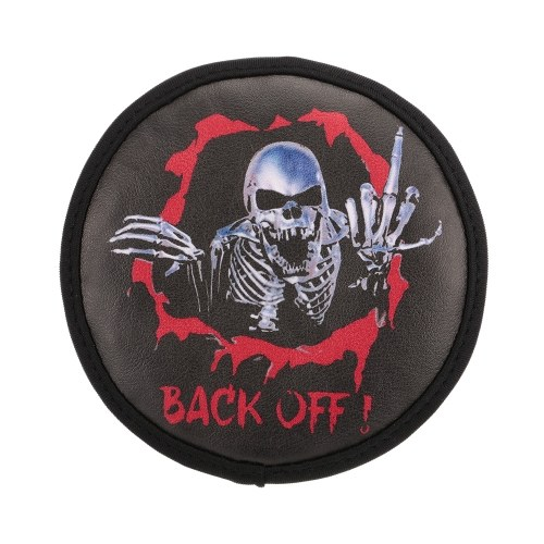 PU Leather Spare Tire Cover Skeleton Pattern