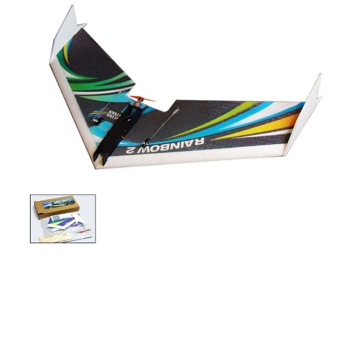 Dancing Wings Hobby E0604 Rainbow II 1000mm Wingspan KIT RC Airplane Delta Wing Tail-pusher Flying Aircraft