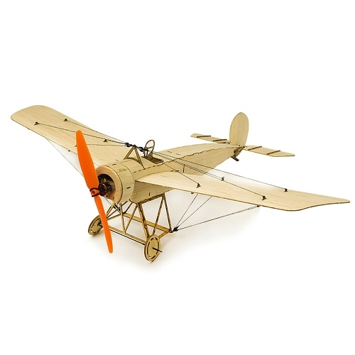 DW Hobby K0801 Mini Fokker-E Balsa Wood 420mm Wingspan Biplane RC Aircraft Toy KIT Airplane for DIY