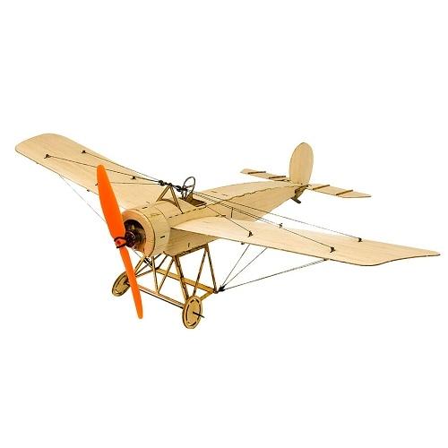 DW Hobby K0801 Mini Fokker-E Balsa Wood 420mm Apertura Alare Biplano RC Aircraft Toy KIT Aereo per DIY