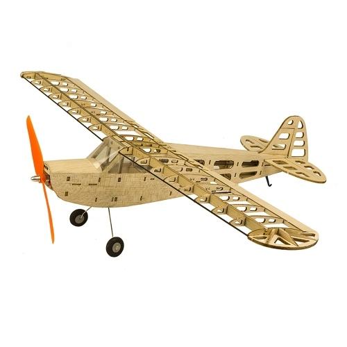 DW Hobby T0801 EP J3 Legno di Balsa 600mm Apertura Alare Biplano RC Aircraft Toy KIT Aereo per DIY