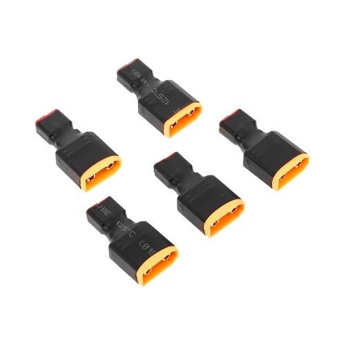 5 pcs T Plug Feminino e XT90 Plug Macho Conector Adaptador Conversor