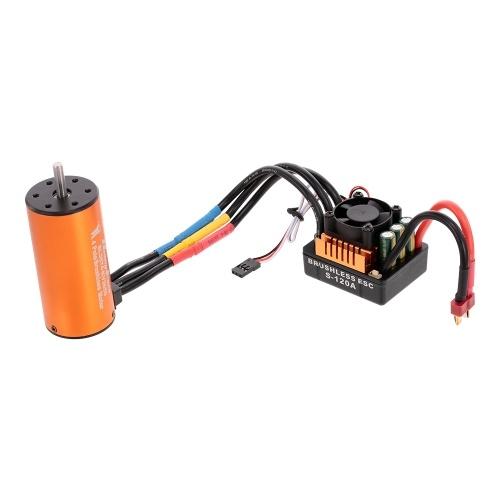 HOBBYFANS 3674 2650KV 4P Brushless Motor 120A 2-4 s ESC Programmierkarte