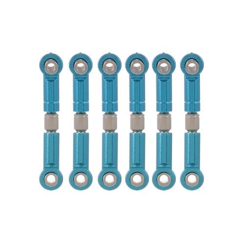6 STÜCKE TPOWER Aluminiumlegierung Link Pull Rod Kit