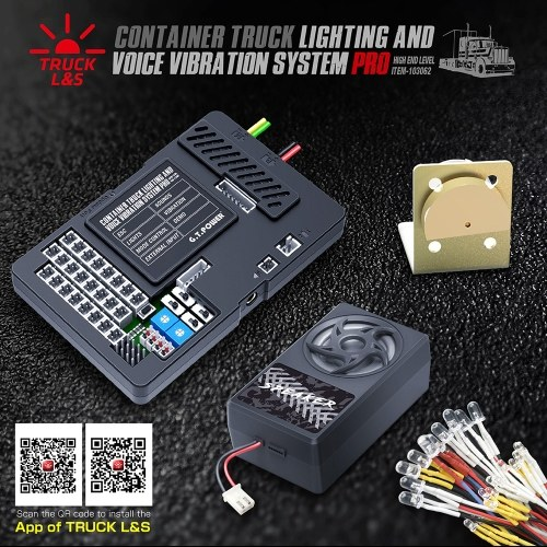 GTPOWER E30 BT Container Truck Light Voice Vibration Simulated System ESC integrato per Tamiya Container Truck RC Truck