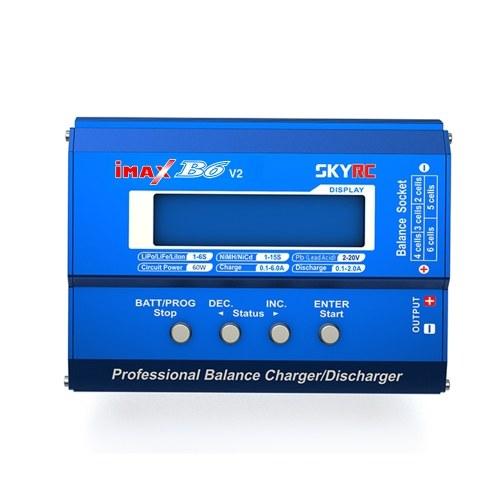 Carregador de equilíbrio SKYRC iMAX B6 V2 60W 6A DC / DC conversor compatível com DJI Mavic Inspire bateria inteligente NiMH / NiCd / LiPo / LiHV / LiFe / Li-ION / bateria Pb