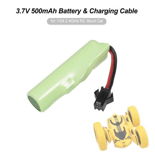 Batterie 3.7V 500mAh et câble de chargement pour 1/28 voiture de cascade de 2,4 GHz RC