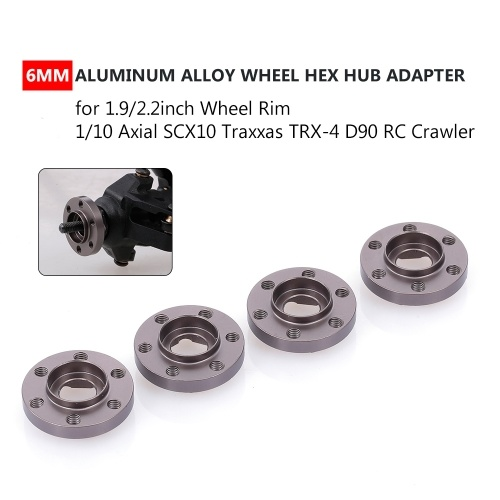 4Pcs 6mm Wheel Hex Hub Adapter