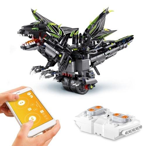 1166PCS 2.4G RC приложение управления RC робот RC строительный блок робот