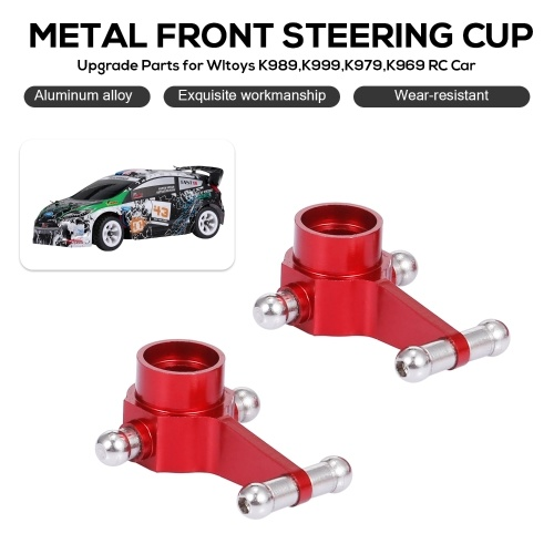 Replacement for Wltoys K989 K999 K979 K969 RC Car Metal Front Steering Cup Steering Hub Carrier Aluminum Upgrade Parts