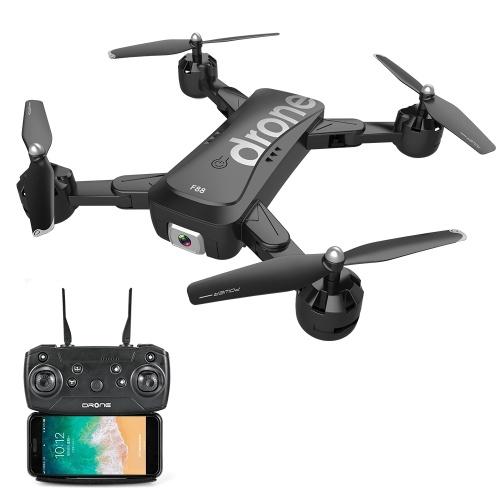 Двойная камера F88 1080P Image Drone Follow Оптическое позиционирование потока APP Управление жестами Складной квадрокоптер