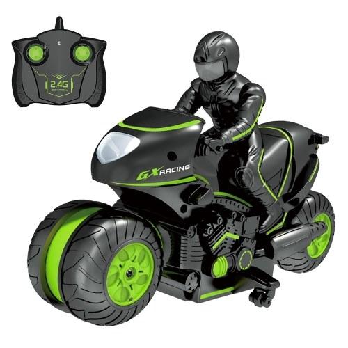 2.4 ГГц RC Трюк Автомобиль Мотоцикл 3D Вращающийся Дрифт Трюк Гонки Мотоцикл Дети Мотоцикл Электрический Пульт Дистанционного Управления Мальчик Игрушки фото