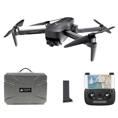 ZLRC SG906 PRO GPS 5G 4K Camera RC Drone Adjustable Wide Angle Gesture Photo Video MV RC Quadcopter(2 Batteries and Case )