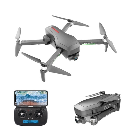 CSJ X7 PRO GPS 5G Wifi 4K RC Drone 2-axis Gimbal Brushless Quadcopter with Backpack