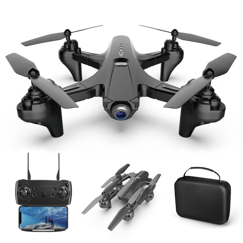 1080P Dual Camera WiFi FPV Drone Folding Drone Headless Mode One Key Return Drone for Adults