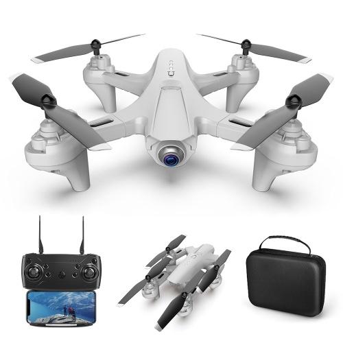 1080P Dual Camera WiFi FPV Drone Folding Drone Headless Mode One Key Return Drone for Adults