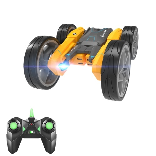 2.4GHZ RC Stunt Car Remote Control Double-sided Drive 360°Rotating Auto Demo RC Car RC Crawlers with Light