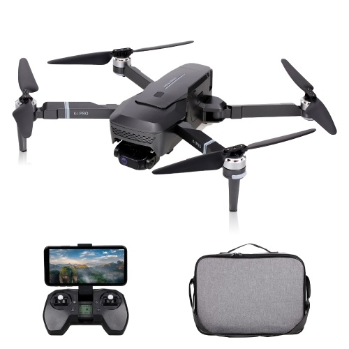 VISUO K1 PRO GPS RC Drone with Camera 4K 2-axis Gimbal Brushless Motor 5G Wifi FPV Quadcopter Point of Interest Follow Mode 600m Control Distance 28mins Flight Time with Storage Bag