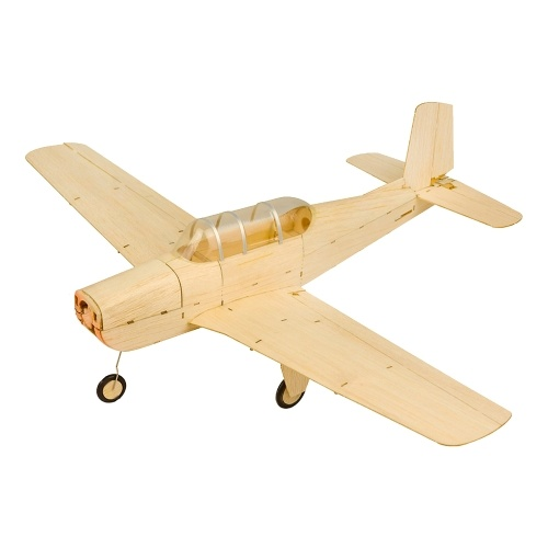 DWH K13 Beechcraft T-34 Mentor RC Airplane Balsa Wood Aircraft 460mm Wingspan Outdoor Flight Toys DIY Assembly Model KIT Version
