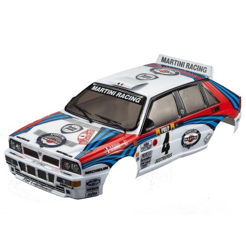 Killerbody 48248 257mm Wheelbase 1/10 Touring RC Racing Car Body Shell Kit Compatible with Lancia Delta HF Integrale Finished Body RC Racing Car Shell for 1/10 Touring RC Car DIY