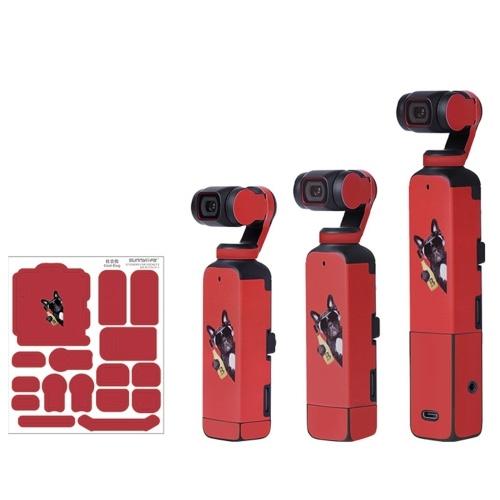 Autocollant Housse de protection en PVC Compatible avec DJI Osmo Pocket 2 Corps de caméra à cardan portable Anti-Scratch Anti-Slide Étanche Autocollants anti-rayures