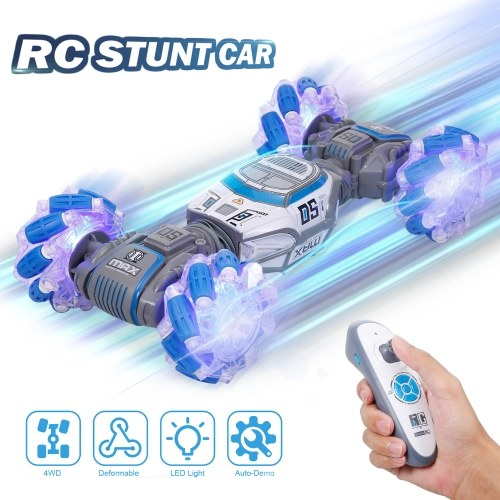 UD2196AN RC Stunt Car 4WD 2.4G 1:14 Somatosensory Control Deformable Car Double-sided Driving with LED Light and Music