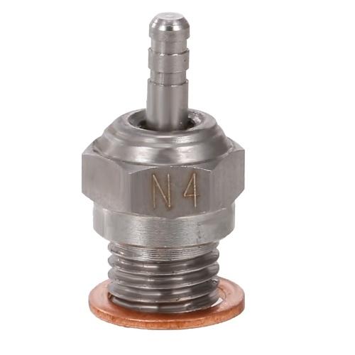 70117 N4 pièces de moteur RC de bougie de préchauffage en acier pour moteurs Nitro Buggy de camion de voiture RC (argent, N4)