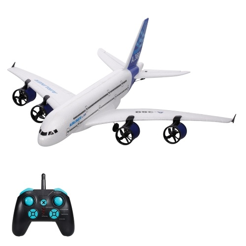 A380 2.4G 3CH RC Airplane Flying Aircraft Glider with LED Searchlight