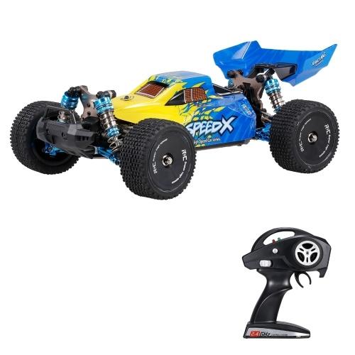 XLF F16 2.4Ghz 1/14 RC Auto Telaio in lega 4WD Auto fuoristrada 60 km / h Auto da corsa ad alta velocità 1600mAh Batteria RC Buggy Drift Car
