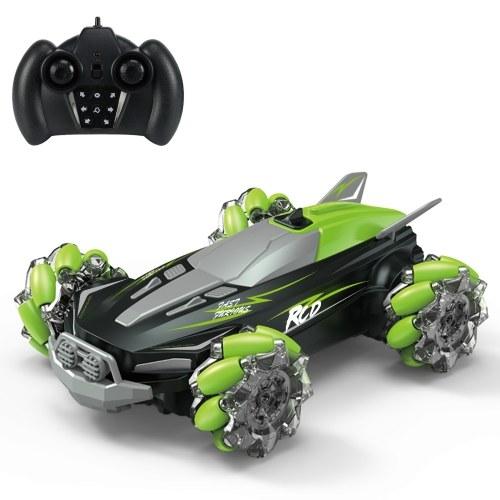D888 2.4G 4WD RC Stunt Car Remote Control Car 360 ° Rotation Drift Car con luce a LED e musica