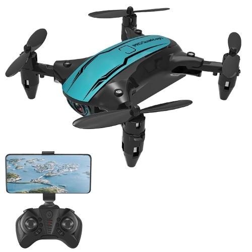 CS02 Wifi FPV 4K caméra RC Drone débutant Drone Mini pliant quadrirotor jouet mode sans tête piste vol LED lumières