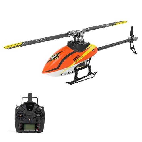 YU XIANG F180 2.4GHz6CHフライバーレス3D / 6GスタントヘリコプターRTFデュアルブラシレスモーターRCヘリコプター