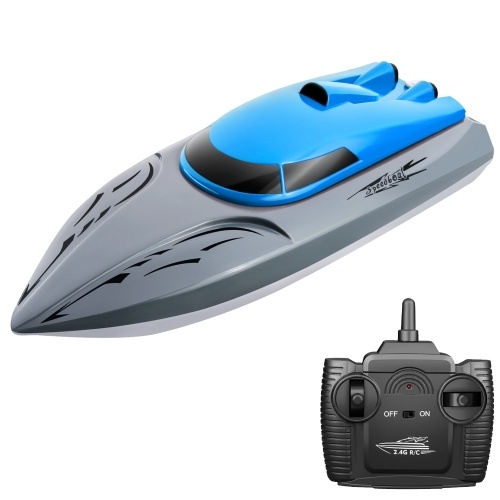 806 2.4G Лодка на радиоуправлении 20 км / ч Водонепроницаемая игрушка Высокоскоростная лодка на радиоуправлении