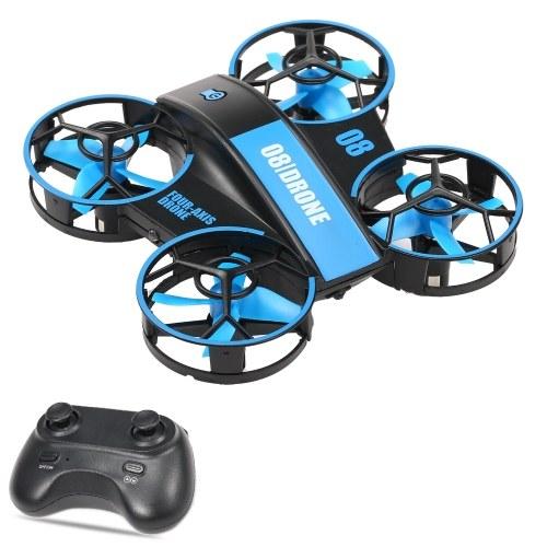 Мини-дрон РУ Квадрокоптер Дрон Радиоуправляемый самолет без головы Режим 3D флип с удержанием высоты для детей и начинающих