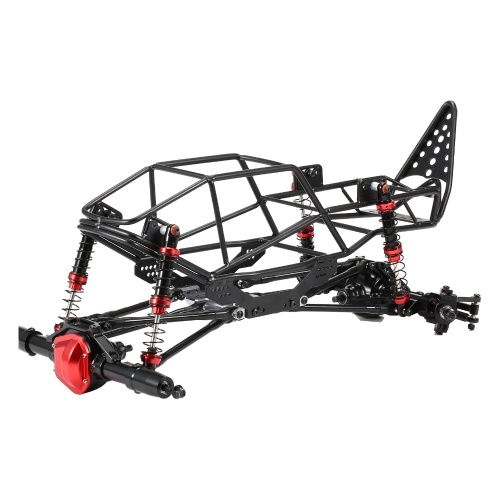 Metal Crawler Chassis Frame Kit with Front Rear Bridge RC Truck Body Roll Cage Frame Replacement for AXIAL SCX10 90022 90027 1/10 Climbing Car