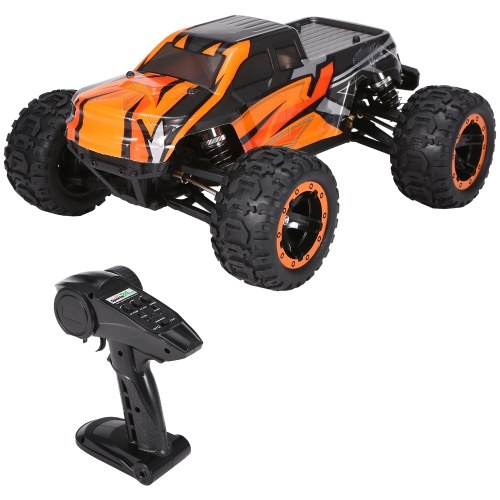 16889A-Pro 1:16 4WD Big Foot RC Car 45 Km/h High Speed 2840 Brushless Motor Vehicle 4X4 Waterproof Off-Road Truck with LED Light