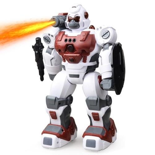 RC Robot Spray Police Robot with Gesture Sensing Automatic Demonstration Singing Dancing Light Spray