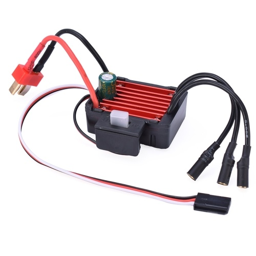 25A ESC Electric Speed Controller Waterproof Dustproof Compatible with HSP Axia for RC 1/16 1/18 1/20 RC Car/Buggy/Drift Car 2030 2040 2430 2435 2440 2445 Brushless Motor