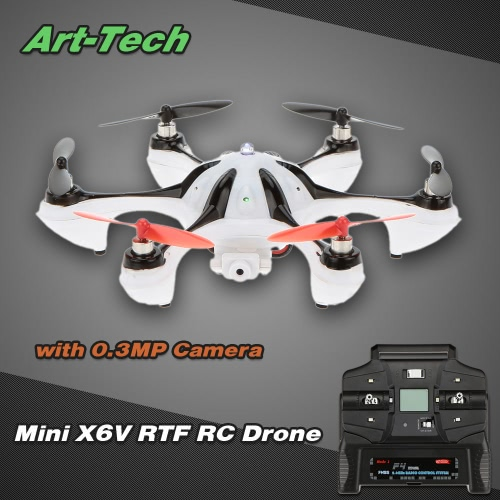 Originale 2.4G 4CH 6-Assi Giroscopio Art-tech Mini X6V RTF RC Drone con Fotocamera da 0.3MP