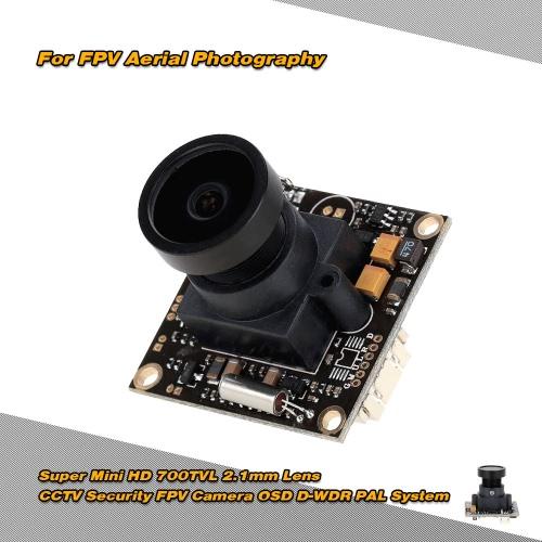 Super Mini HD 700TVL 2.1mm PAL CCTV Security Lens Camera for FPV Aerial Photography